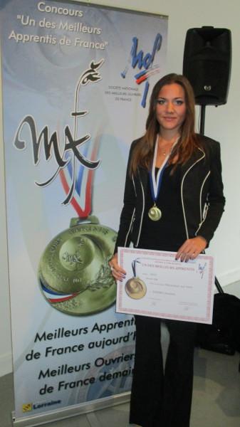 Charlotte Soeder - apprentie Cerfav, MAF décoration sur verre 2015