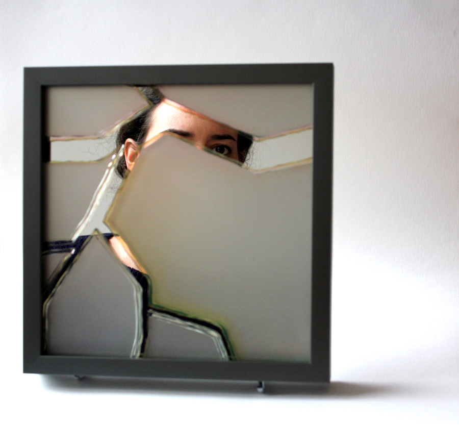 Aline Thibault concepteur createur en métiers d'art, verre, Cerfav, 2019