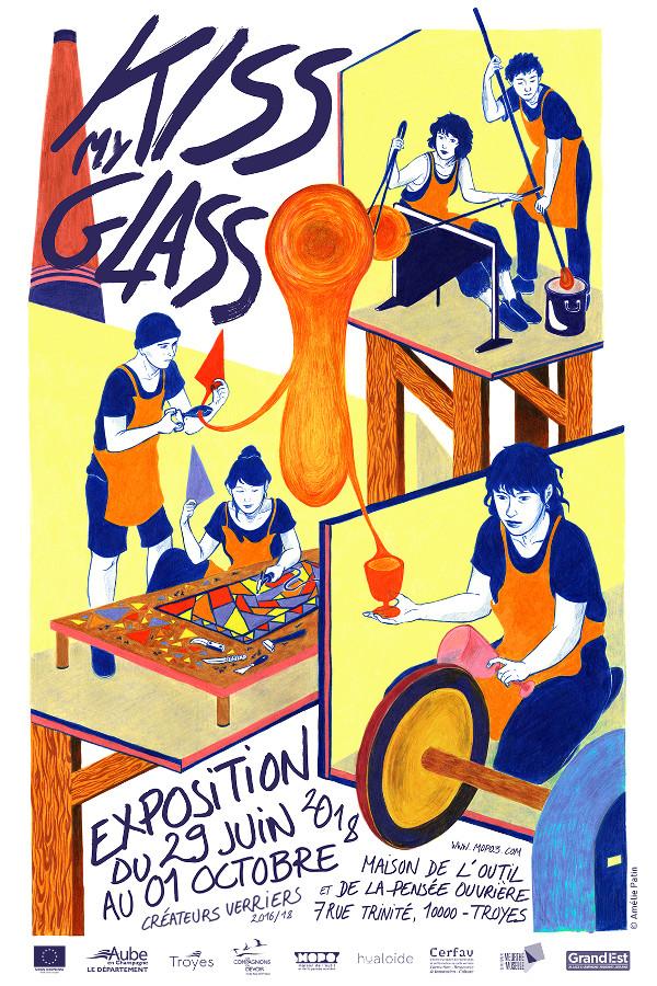 kiss_my_glass exposition verre contemporain de la promotion 2018 des createurs verriers du Cerfav