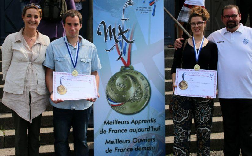 Les médaillés or et argent au concours MAF 2016 – arts et techniques du verre