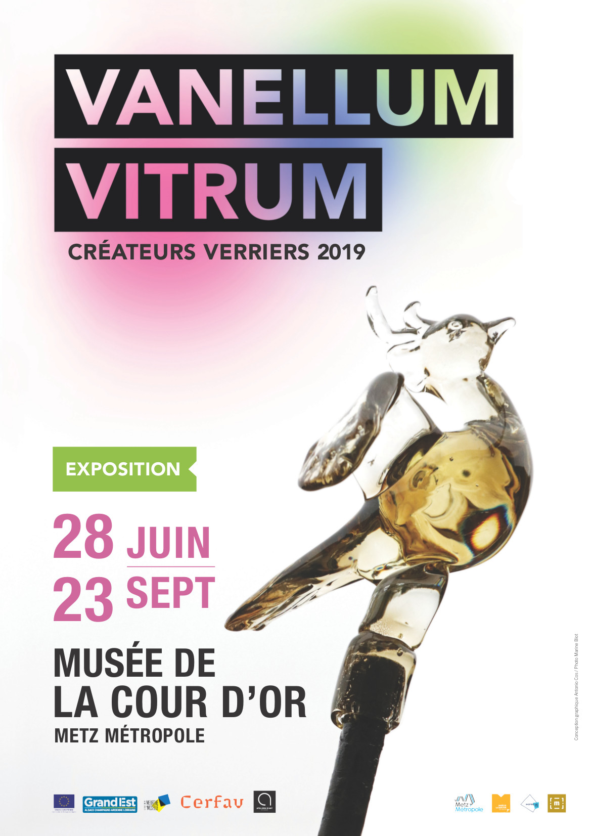 exposition verre vanellum vitrum createur verrier cerfav cour metz